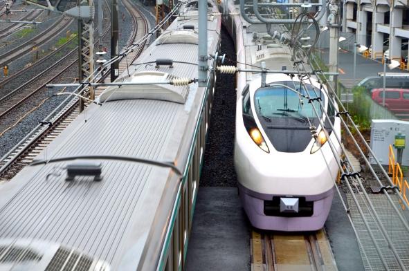 Saliendo de la estación de Nippori