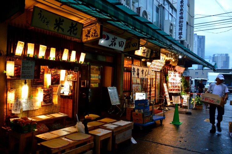 Restaurantes de sushi a las afueras del mercado