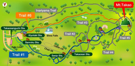 Mapa de los diferentes treekings